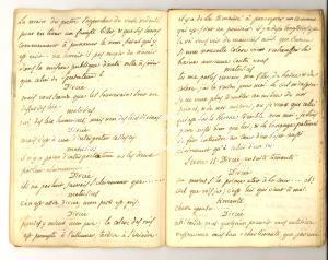 1770 ca METASTASIO DEMOFONT Pièce dramatique - Copia francese manoscritta