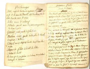 1770 ca METASTASIO Joas, roi de Juda - Copia francese manoscritta