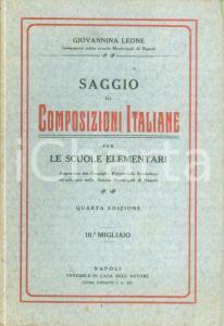 1920 ca Giovannina LEONE Saggio di composizioni italiane per scuole elementari