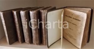 1833 Lodovico ARIOSTO L'Orlando Furioso Sei volumi Editore ANTONELLI cm 6 x 10