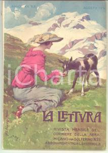 1914 LA LETTURA Vico MANTEGAZZA Dopo la tragedia di SARAJEVO *Rivista ILLUSTRATA