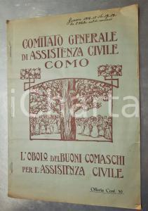 1915 COMO WW1 Assistenza Generale di Assistenza Civile Obolo dei buoni comaschi