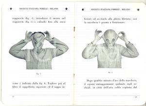 1935 MILANO - PIRELLI Maschera antigas tipo S.I.P. 1 *Servizio Chimico Militare