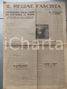 1944 IL REGIME FASCISTA RSI Germanici incalzano da CISTERNA AL MARE *Giornale