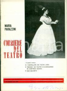 1977 CORRIERE DEL TEATRO Maria PARAZZINI Treviso teatro d'avanguardia *Rivista