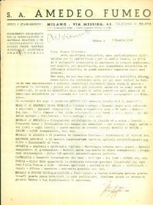 1944 MILANO RSI Società Anonima Amedeo FUMEO Fabbricazione materiale didattico