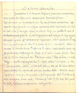 1943 TOBRUK Giuseppe BADIALI Il sistema comunista Appunti MANOSCRITTI