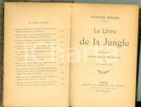 1905 Rudyard KIPLING Le livre de la Jungle trad. Louis FABULET Mercure de FRANCE