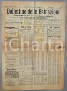 1935 MILANO Bollettino delle Estrazioni titoli obbligazioni *DANNEGGIATO