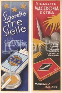 1940 ca Sigarette coloniali TRE STELLE MACEDONIA EXTRA *Segnalibro pubblicitario