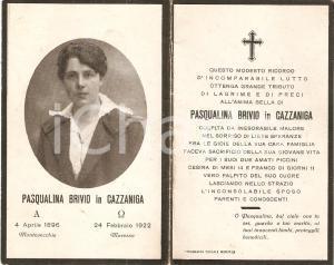 1922 MISSAGLIA Frazione MARESSO In memoria Pasqualina BRIVIO - CAZZANIGA Santino