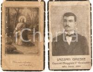 1925 ca GRANATIERI Caporal Maggiore Oreste LAZZATI Requiem *Santino DANNEGGIATO