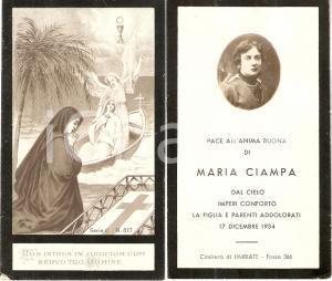 1934 LIMBIATE (MI) In memoria di Maria CIAMPA *Santino ILLUSTRATO