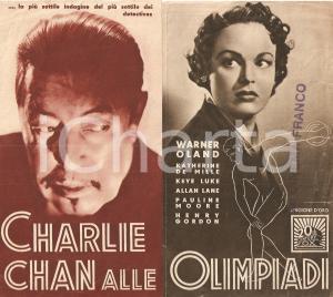 1937 CHARLIE CHAN ALLE OLIMPIADI Warner OLAND Katherine DeMILLE *Volantino