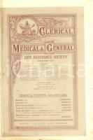 1892 LONDON Clerical Medical & General Opuscolo assicurativo ILLUSTRATO
