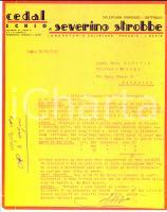 1947 SCHIO (VI) Calzature CEDAL di Severino STROBBE - Gli ordini vanno a monte