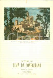 1962 TREVISO Mostra Cima CONEGLIANO Castello COLLALTO *Locandina mezzi pubblici