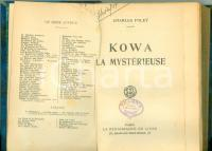 1932 Charles FOLEY Kowa la Mystérieuse Edizioni La Renaissance du Livre