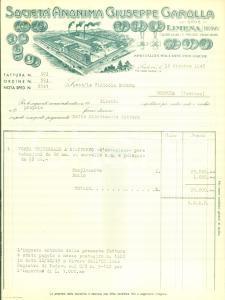 1945 LIMENA (PD) Società Giuseppe GAROLLA Macchine enologiche *Fattura