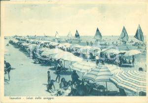 1948 CESENATICO (FC)  Ombrelloni sulla spiaggia e barche a vela *Cartolina FG VG