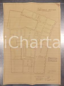 1930 MILANO Ing. DE DOMINICIS Edificatrice VITTORIA Planimetria casa sotterraneo
