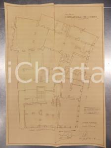 1930 MILANO DE DOMINICIS Edificatrice VITTORIA Planimetria casa piano terreno