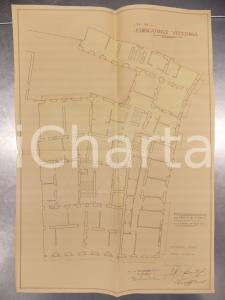 1930 MILANO DE DOMINICIS Edificatrice VITTORIA Planimetria casa *Secondo piano