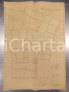 1930 MILANO Ing. DE DOMINICIS Edificatrice VITTORIA Planimetria casa primo piano