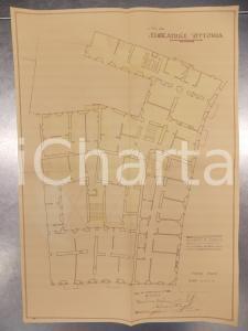 1930 MILANO DE DOMINICIS Edificatrice VITTORIA Planimetria casa secondo piano