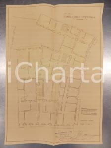 1930 MILANO Ing. DE DOMINICIS Edificatrice VITTORIA Planimetria casa terzo piano
