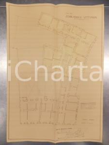 1930 MILANO Ing. DE DOMINICIS Edificatrice VITTORIA Planimetria di casa civile