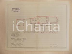 1940 ca MILANO Arch Ferruccio BIGI Progetto rifacimento casa in Via FIORI CHIARI