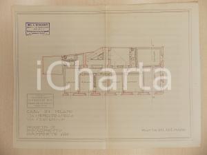1940 ca MILANO Arch. Ferruccio BIGI Progetto rifacimento casa Via FIORI CHIARI
