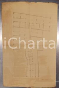1940 ca MILANO Arch. Ferruccio BIGI Planimetria casa civile Via FIORI CHIARI