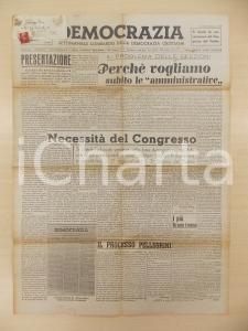 1945 DEMOCRAZIA Settimanale Lombardo DC Vogliamo subito le amministrative