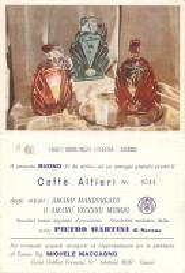 1950 ca CUNEO Ditta Pietro MARTINI Caffè ALFIERI alla Fiera Provincia Granda