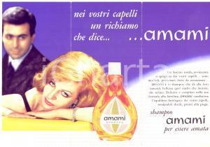 1960 ca PUBBLICITA' VINTAGE Shampoo AMAMI per essere amata *Opuscolo ILLUSTRATO