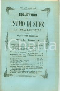 1857 BOLLETTINO DELL'ISTMO DI SUEZ 10 Osservazioni idrografiche su baia PELUSIO