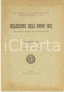 1913 PADOVA Società Dante Alighieri Relazione anno 1912 con elenco soci