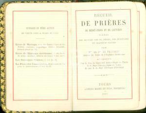 1897 Louise Mathilde DE FLAVIGNY Recueil de prières de méditations *Ed. MAME