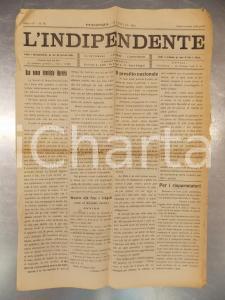 1915 PIACENZA Giornale L'INDIPENDENTE Società di Mutuo Soccorso querela giornale