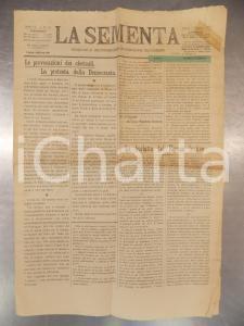 1910 LA SEMENTA Periodico socialista lucchese Provocazioni dei clericali