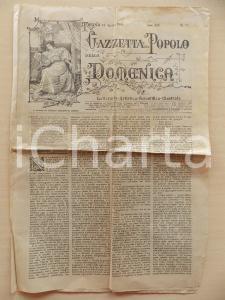 1901 GAZZETTA DEL POPOLO DELLA DOMENICA Vecchie fiere alessandrine *Giornale