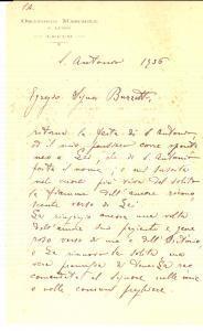 1936 LECCO Oratorio maschile SAN LUIGI Ringraziamenti don Luigi VERRI *Lettera
