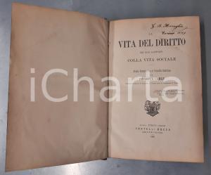 1880 Giuseppe CARLE La vita del diritto nei suoi rapporti colla vita sociale