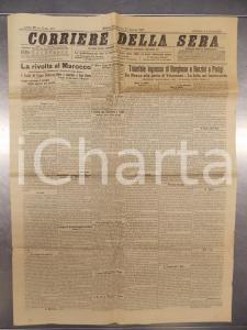 1907 CORRIERE DELLA SERA La rivolta in MAROCCO I fatti di CASABLANCA *Giornale