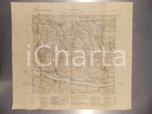 1940 ca ISTITUTO GEOGRAFICO MILITARE Cartina di CORTEOLONA *Mappa