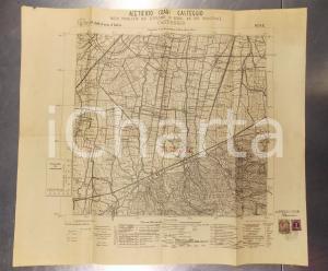 1946 CASTEGGIO (PV) Mappa acetificio COARI con pozzo trivellato Carta d'ITALIA