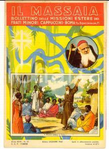 1940 ROMA IL MASSAIA Bollettino missioni africane CAPPUCCINI *ILLUSTRATO