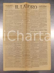 1905 IL LAVORO Città di GENOVA inizia lavori Consorzio Autonomo del Porto
